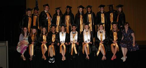 Theatre Students graduating  as part of the class of 2017